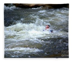 Riding The Flume Fleece Blanket