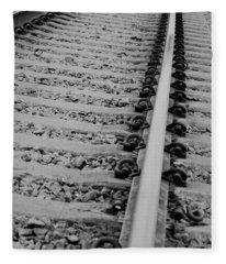 Riding The Rail Fleece Blanket