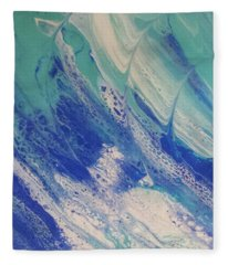 Riding The Wave Fleece Blanket