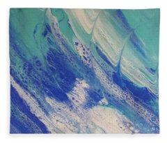 Riding The Wave Fleece Blanket