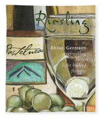 Riesling Wine Fleece Blanket