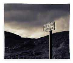 Right Of Way To Laggan Fleece Blanket