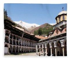 Rila Monastery Fleece Blanket