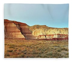 Rimrocks At Dusk Fleece Blanket
