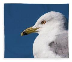 Ring-billed Gull Portrait Fleece Blanket