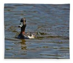 Ring Necked Duck Fleece Blanket