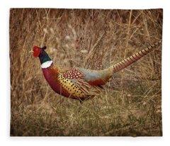 Ring Necked Pheasant Fleece Blanket