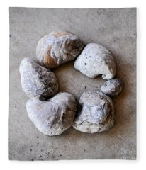 Ring Of Fossils Fleece Blanket