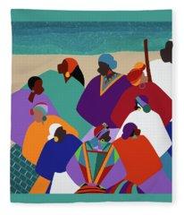 Ring Shout Gullah Islands Fleece Blanket