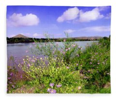 Rio Grande De Las Cruces Fleece Blanket