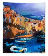 Riomaggiore - Cinque Terre Fleece Blanket