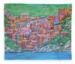 Riomagiorre My Favorite Village In Italy Fleece Blanket