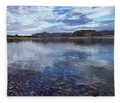 Ripples And Reflections Fleece Blanket