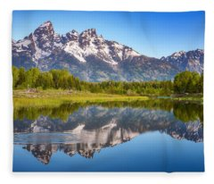Ripples In The Tetons Fleece Blanket
