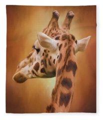 Rising Above - Giraffe Art Fleece Blanket