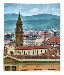 Rising Above The City Fleece Blanket