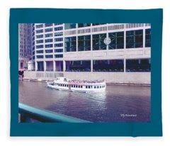 River Boat Tour Fleece Blanket