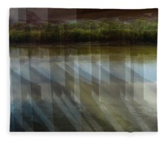 River Canyon Abstract Fleece Blanket
