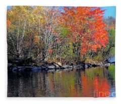 River Color Fleece Blanket
