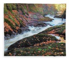 River Esk Rapids Fleece Blanket