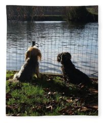 River Gazing Fleece Blanket