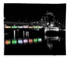 River Liffey Reflections Fleece Blanket