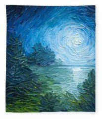 River Moon Fleece Blanket