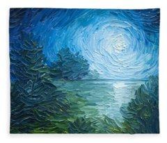River Moon Fleece Blanket