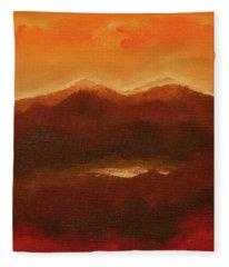 River Mountain View Fleece Blanket