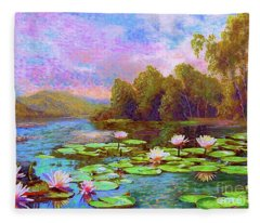 The Wonder Of Water Lilies Fleece Blanket