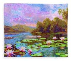 The Wonder Of Water Lilies Fleece Blanket