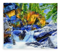 River Pool Fleece Blanket