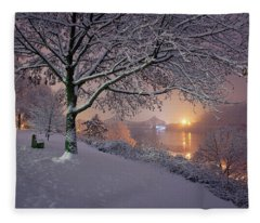 River Road  Fleece Blanket