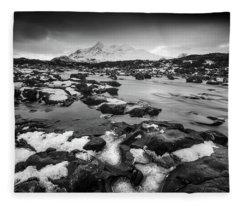 River Sligachan And Black Cuillin, Isle Of Skye Fleece Blanket