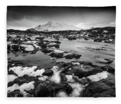 River Sligachan And Black Cuillin, Isle Of Skye Fleece Blanket