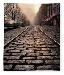River Street Railway Fleece Blanket