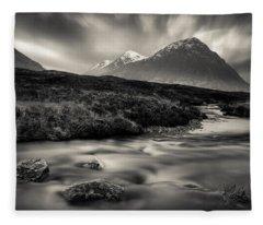 River To The Buachaille Fleece Blanket