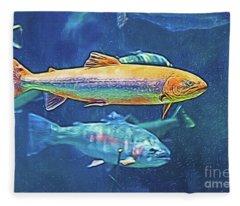 River Trout Fleece Blanket