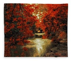 Riverbank Red Fleece Blanket