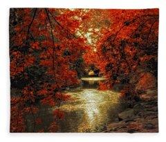 Riverbank Red Fleece Blanket