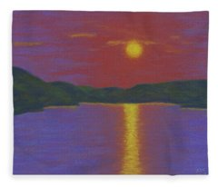 Riverboat Sunset Fleece Blanket