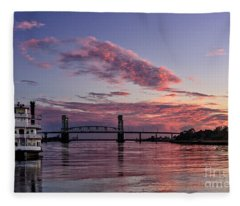 Cape Fear Riverboat Fleece Blanket
