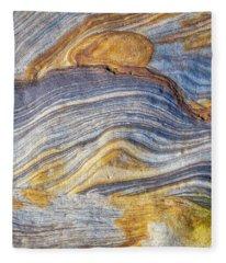 Rivers Of Stone Fleece Blanket