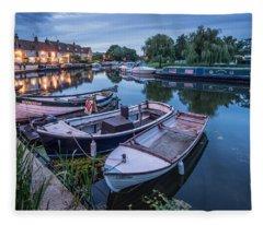 Riverside By Night Fleece Blanket