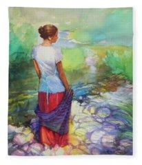 Riverside Muse Fleece Blanket