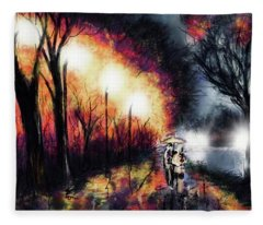Riverside Night Fleece Blanket