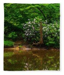 Riverside Rhododendron Fleece Blanket