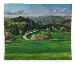 Road In The Mountains Fleece Blanket