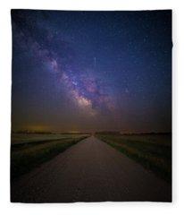 Road To Cosmos  Fleece Blanket
