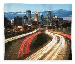 Road To Minneapolis Fleece Blanket